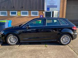 Audi A3, 2015 (65) Black Hatchback, Manual Diesel, 62,000 miles