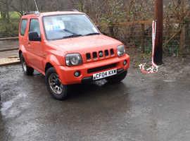 Suzuki Jimny, 2004 (04) Red Estate, Manual Petrol, 77,000 miles