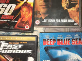 DVDs Gone in 60 seconds, fast & furious, deep Blue sea, and more