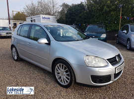 VW Golf GT 140 TDI 2.0l Diesel 5 Door Hatch, Service History, New MOT, Lovely Condition Throughout.