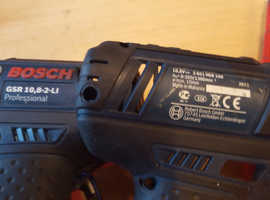 Drill. Bosch Battery Operated Drill