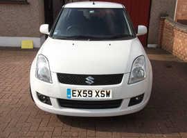 Suzuki Swift, 2009 (59) White Hatchback, Manual Petrol, 56,179 miles
