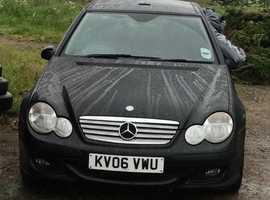 SPARES - Mercedes C CLASS, 2006 (06) Black Coupe, Automatic Petrol, 10,000 miles
