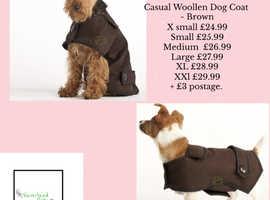 Casual Woollen Dog Coat