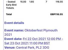 7 Oktober Fest Central Park Saturday 23rd Oct early bird seated tickets for sale