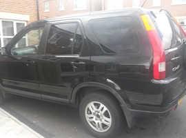 Honda CR-V, 2004 (04) Black Estate, Manual Petrol, 156,000 miles