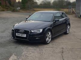 Audi A3, 2014 (14) Black Hatchback, Manual Petrol, 46,000 miles