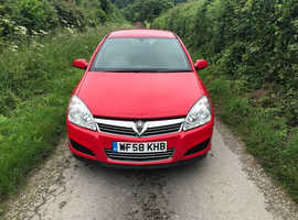 Vauxhall Astra, 2008 (58) Red Hatchback, Manual Petrol, 82,801 miles