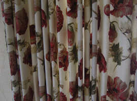 Pair of Lovely Floral Curtains
