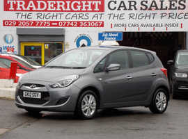 2012/12 Hyundai iX20 1.6 CRDi Active finished in Asteriod Grey Metallic. 55,924 miles