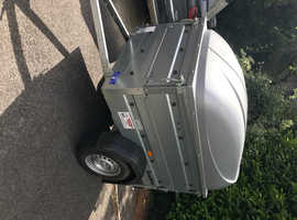 Brenedrup 1150 high sided trailer with ABS lid.