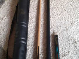 BCE CUSTOM made Jimmy white Snooker/pool Cue and case