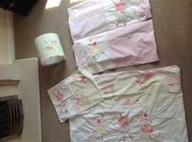 Toddler bedding set with curtains and lampshade from Next