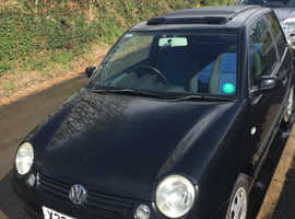 Volkswagen Lupo,open air 2000 (X) Black Hatchback, Manual Petrol, 145,936 miles