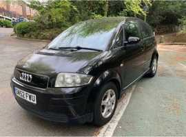Audi A2, 2002 (52) Black Hatchback, Manual Petrol, 75,000 miles
