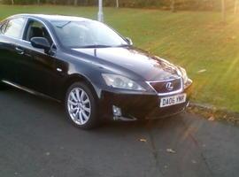 Lexus Is, 2006 (06) Black Saloon, Manual Diesel, 130,000 miles
