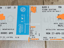Mcfly Concert Tickets