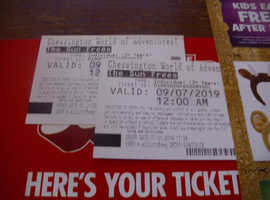 chessington world of adventure tickets  2 tickets for 9 JULY