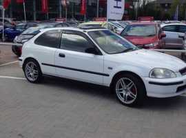 Honda Civic, 1998 (S) White Hatchback, Automatic Petrol, 88,000 miles