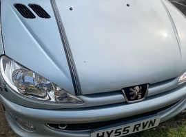 Peugeot 206, 2005 (55) Silver Coupe, Manual Petrol, 58 miles