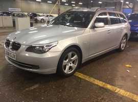 BMW 5 Series, 2008 (08) Silver Estate, Automatic Diesel, 130,000 miles
