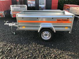 6x4 52cm side single axle trailer flat TEMARED ECO 2020