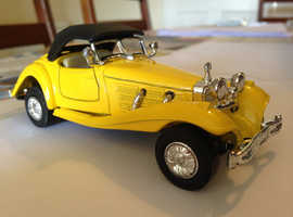 "DIE CAST METAL MODEL CLASSIC SPORTS CLASSIC CAR MERCEDES BENZ 500K 1936  CABRIOLET CONDITION EXCELLENT AS NEW ""WELLY""  (R) SALE PRICE £25 GOODS LOCATI"