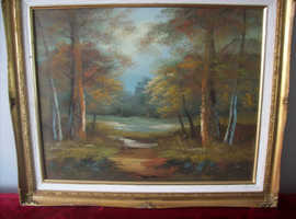 A beautiful oil on canvas Called 'Golden Glade'