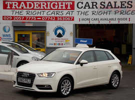 Audi A3, 2014 (63) White Hatchback, Manual Diesel, 92,351 miles