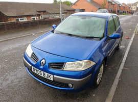 Renault Megane, 2006 (06) Blue Hatchback, Manual Petrol, 75,923 miles