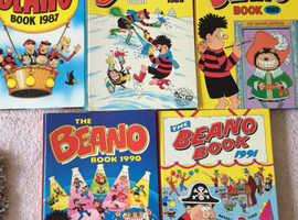 5 x Beano Annuals 1984/1987/1988/1989/1991