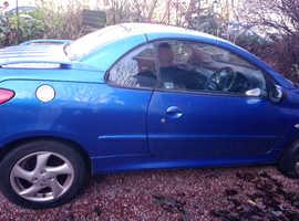 Peugeot 206, 2004 (04) Blue Coupe, Manual Petrol, 46,000 miles