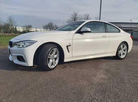 BMW 4 Series, 2015 (65) White Coupe, Automatic Diesel, 76,490 miles