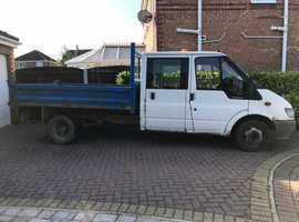 55 plate Ford Transit Crew Cab Tipper