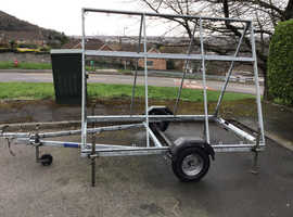 A frame galvanised steel 8x4 advertising trailer