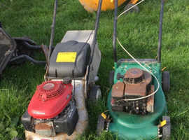 Lawn mowers & cenent mixer