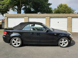 BMW 1 series, 2010 (10) Black Convertible, Manual Diesel, 110,252 miles