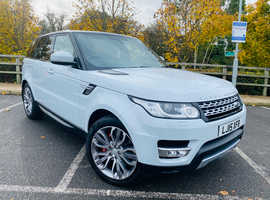 Land Rover Range Rover Sport, 2015 (15) White Estate, Automatic Diesel, 65,000 miles