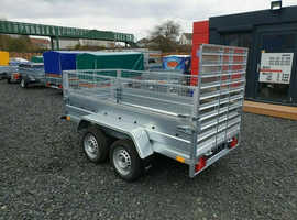 BRAND NEW MODEL  7.7 x 4.2 DOUBLE AXLE TRAILER WITH 40CM MESH AND A RAMP