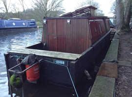 Wooden narrow boat