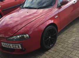 Alfa Romeo 147, 2005 (05) red hatchback, Manual Petrol, 85,509 miles