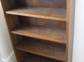Solid Oak bookcase, about 100 years old.