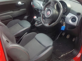 Fiat 500, 2013 (63) Red Convertible, Manual Petrol, 41,000 miles