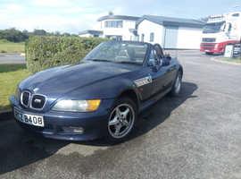 BMW Z3, 2003 (03) Blue Convertible, Manual Petrol, 141,000 miles