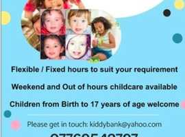 Flexible / Fixed Childcare working in partnership with parents to meet your needs