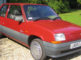 Renault R5, 1993 (L) Red Hatchback, 5-speed Manual Petrol.