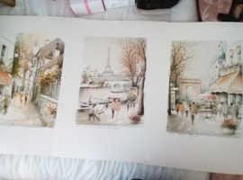 Three lovely prints of paris
