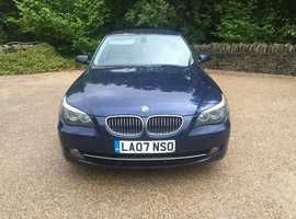 BMW 525d se Turbo Diesel 3.0cc 200bhp 6 speed 4 door saloon 07/2007 2 former keepers 218k service history 12 stamps in book upto 202k