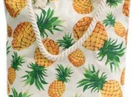 Classic Rope Handle Bag - Pineapples