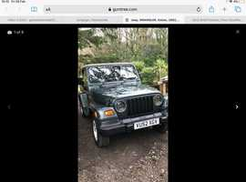 Jeep Wrangler, 2002 (52) Green Estate, Manual Petrol, 139,803 miles